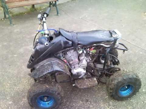 dirt bike engine home made 150cc in small atv /quadBAD BOY