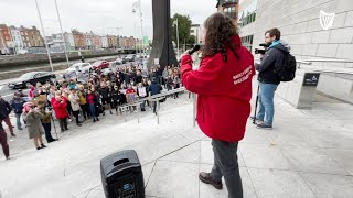 Students protest against lack of affordable accommodation in Ireland