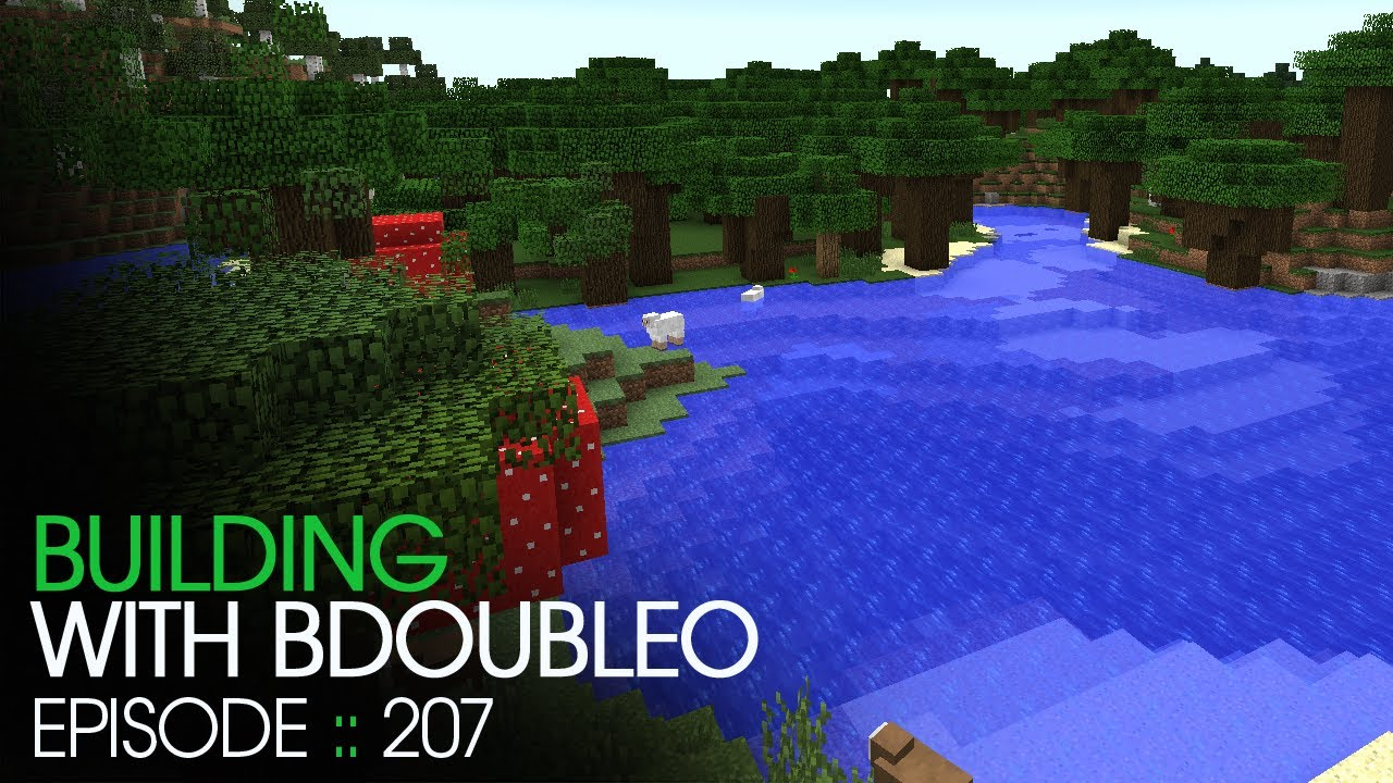 Minecraft :: Roofed Forest :: Building With BdoubleO :: Episode 207    YouTube