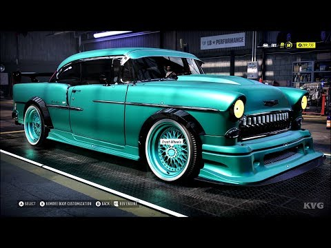Need For Speed Heat - Chevrolet Bel Air 1955 - Customize | Tuning Car (PC HD) [1080p60FPS]