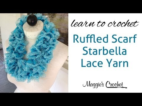 Starbella Lace Ruffled Scarf Easy Lesson With Maggie Weldon