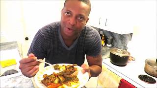 SOUFLOTV Cooks Jamaican food while doing a Dancehall commentary