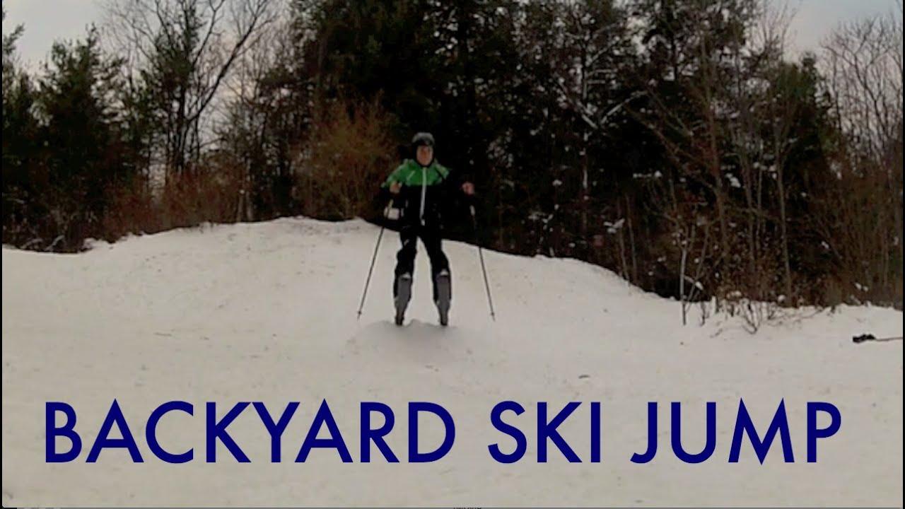 gopro backyard ski jump youtube