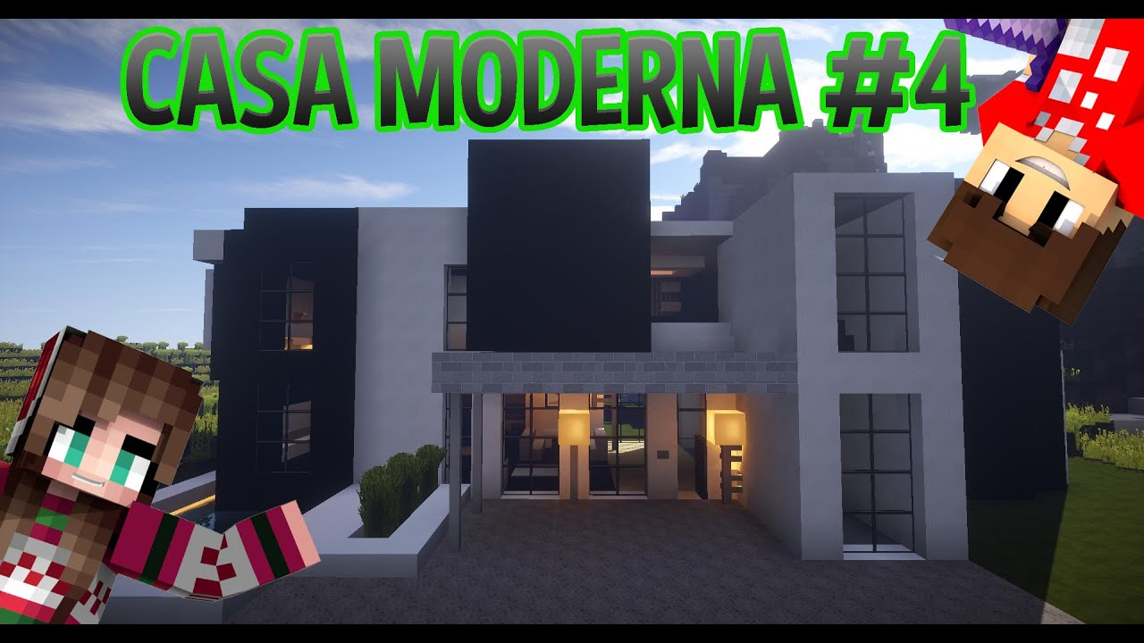 Come costruire una casa moderna minecraft ita 4 youtube for Casa moderna 10x10 minecraft