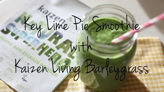 Key Lime Pie Smoothie - Kaizen Living Barleygrass Powder
