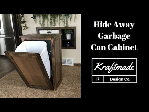 Yes Dear... Hide Away Garbage Can Cabinet