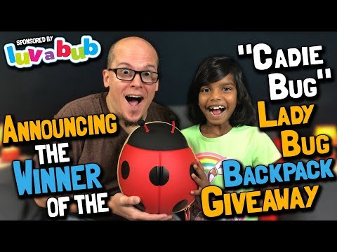 "Announcing the Winner of the ""Cadie Bug"" Ladybug Backpack Giveaway (April 20, 2018)"