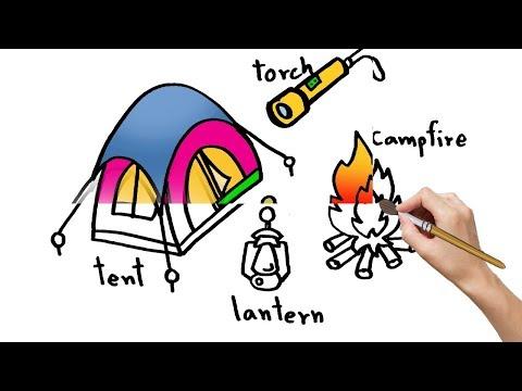 วาดรูประบายสี กางเต้นท์ ผจญภัย Coloring for kids- วาดรูป การ์ตูน อย่างง่าย