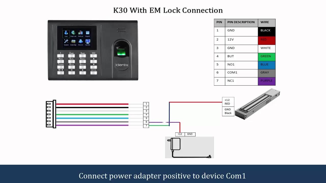 Door Access Control Wiring Diagram 2003 Toyota Corolla Alternator K30 Connection - Youtube