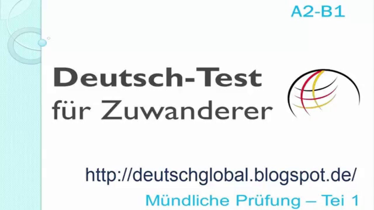 Prüfungsvorbereitung Deutschtest Für Zuwanderer A2 B1 Interaktiv