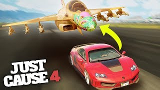 INSANE SUPERCAR ONTO JET TRANSFER! - Just Cause 4 Stunts!