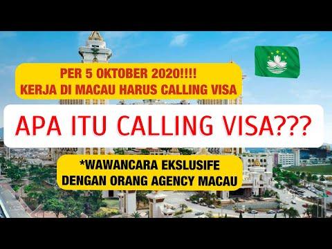KERJA DI MACAU HARUS CALLING VISA., APA ITU CALLING VISA???