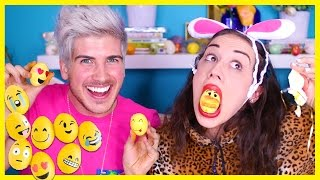 EMOJI EASTER EGG DIY W/ MIRANDA SINGS!