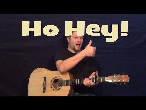 Ho Hey (The Lumineers) Easy Strum Guitar Lesson - Beginners How to Play