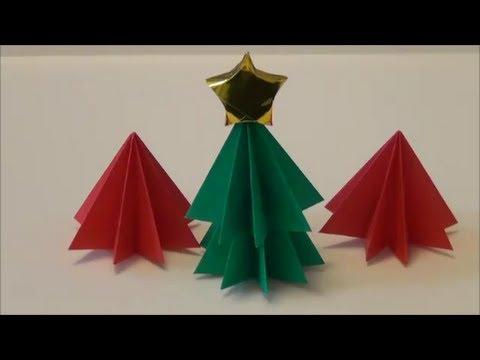 簡単 折り紙 クリスマスツリー折り紙簡単 : youtube.com