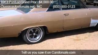 1963 Pontiac Grand Prix  for sale in Nationwide, NC 27603 at #VNclassics