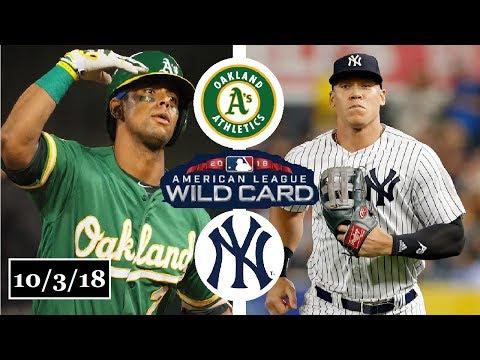 Oakland Athletics vs New York Yankees Highlights    AL Wild Card Game    October 3, 2018