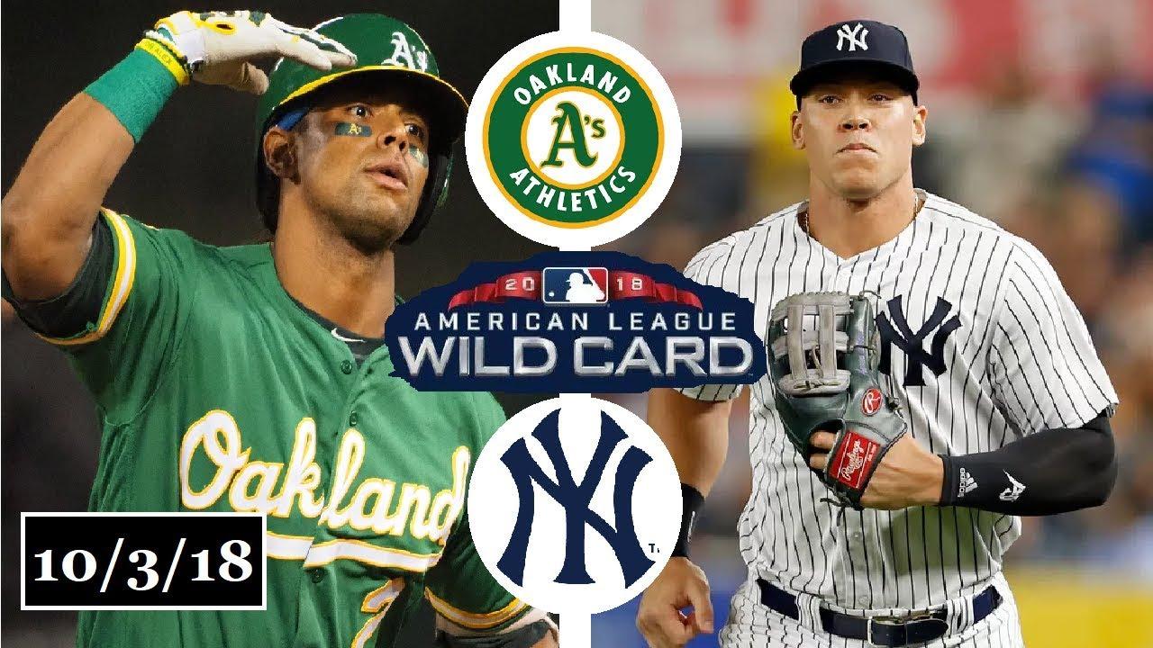 Oakland Athletics vs New York Yankees Highlights || AL Wild Card Game || October 3, 2018