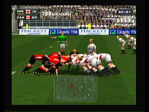 """""""Rugby 2004"""" Playstation 2 opening and gameplay (no commentary)"""