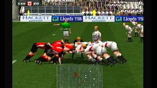 """Rugby 2004"" Playstation 2 opening and gameplay (no commentary)"