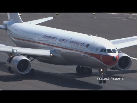 UNBELIEVABLE A330-300 RETRO Livery TAP Landing || Madeira