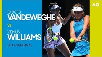 CoCo Vandeweghe v Venus Williams - Australian Open 2017 Semifinal | AO Classics