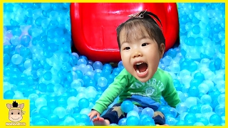 Indoor Playground Fun for Kids Toys and Family Play Slide Rainbow Colors Climb | MariAndKids Toys