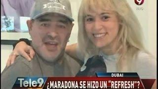 La nueva cara de Maradona