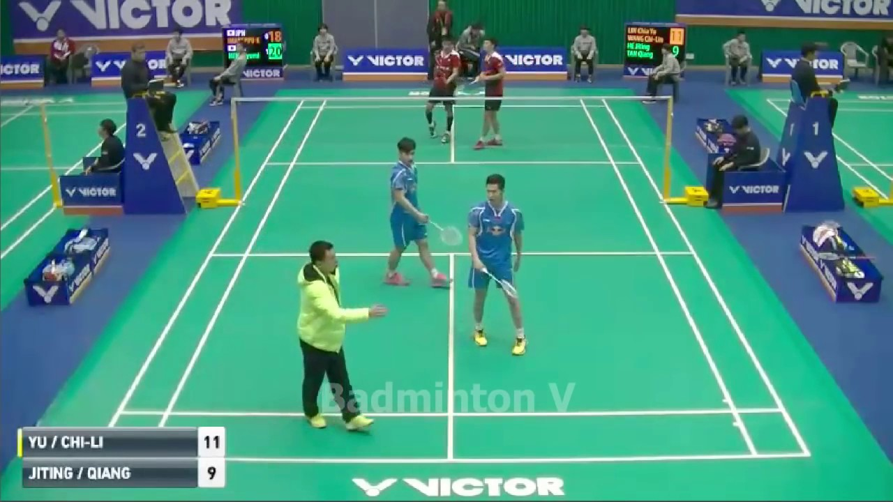 Badminton KoreaMaster 2016 Lin Chia Yu Wang Chi Lin vs He Jiting