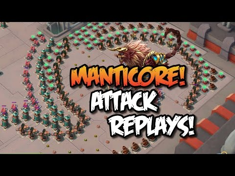 "Boom Beach - Epic Operation Base: ""MANTICORE"" - Task Force Operation Attack Replays!"