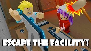 HACK THE COMPUTER & FEAR THE BEAST IN ROBLOX ESCAPE THE FACILITY