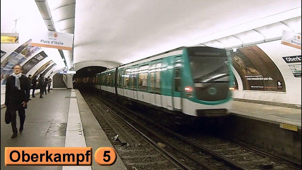 M tro de paris oberkampf ligne 5 ratp mf01 youtube - Station total porte d italie ...