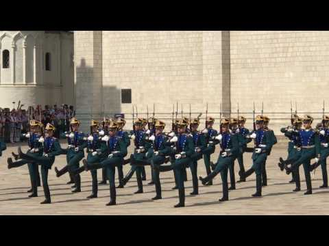Full Changing of the Guards ceremony at the Moscow Kremlin