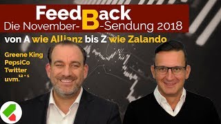 Allianz, Twitter, Zalando uvm. | Feedback B November 2018 | echtgeld.tv (16.11.2018)