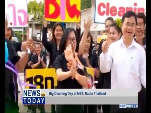 Big Cleaning Day at NBT, Radio Thailand