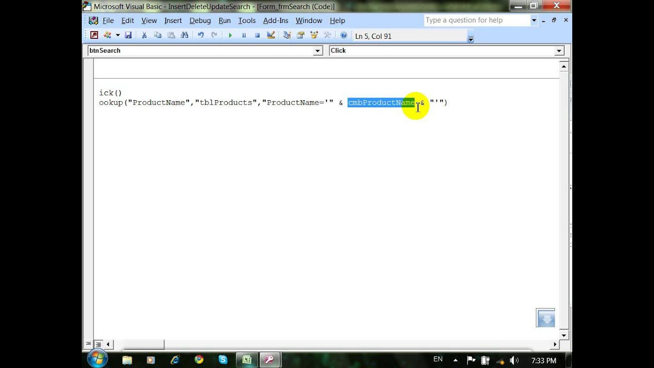 Access Search record Using DLOOKUP part 24 -khmer speak