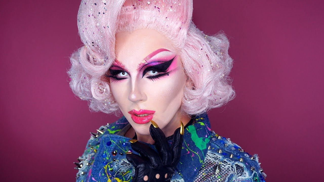 Makeup By The Villbergs Pink Cotton Candy Drag Makeup