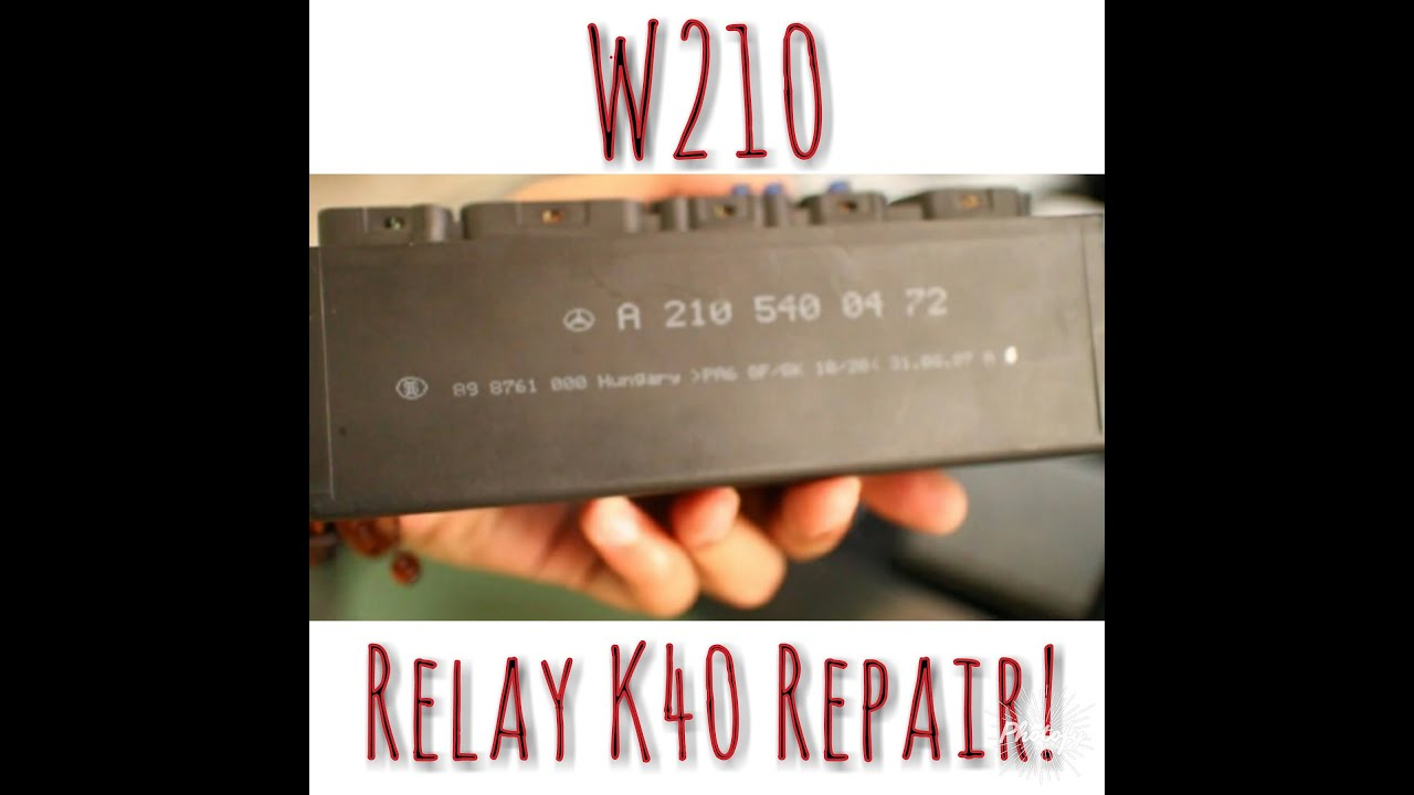 w210 abs fault how to repair k40 relay module indonesia engsub rh youtube com Fan Relay Wiring Diagram mercedes k40 relay wiring diagram
