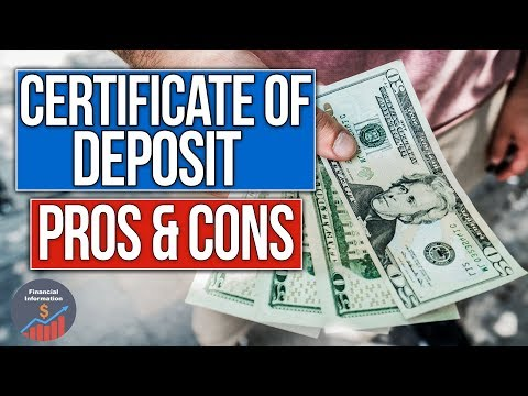 Certificate of Deposit - Advantages and Disadvantages | Pros and Cons