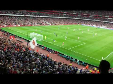 Ozil 3-0 goal against Chelsea (view from emirates stadium box)