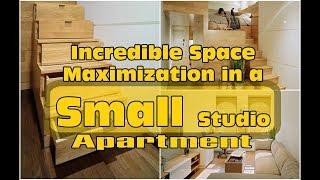 Gambar cover Incredible Space Maximization in a Small Studio Apartment | HD