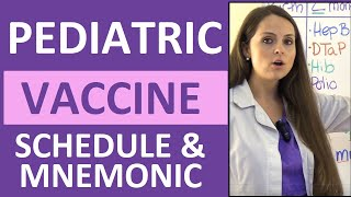 Pediatric Vaccination Schedule Mnemonic for Immunizations Made Easy (Ages 0-6 years) NCLEX
