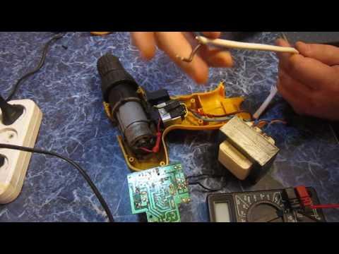 Как переделать шуруповерт аккумуляторный на сетевой с родной зарядки