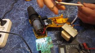 Переделка аккумуляторного шуруповёрта на 220v от его зарядки.