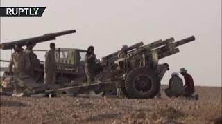 RAW: Syrian Arab Army battles ISIS near Abu Kamal