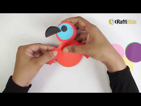 Easy Paper Crafts for KIDS: DIY Circle Parrot by CraftiKids