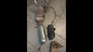 Мазда 3 удаление катализатора и установка пламегасителя