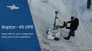 ImpulseRadar Ground Penetrating radar Raptor-45 Cart Demo (drone view) Video