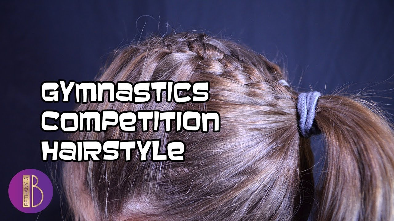 Cute Amp Easy Gymnastics Competition Hairstyle Tutorial