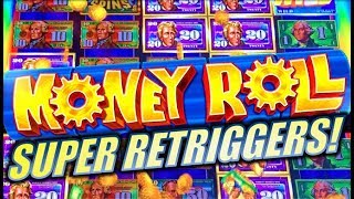 ★SUPER RETRIGGERS! 😍 MEGA CASH REELS!★ MONEY ROLL | INCREDIBLE TECHNOLOGIES (IT) Slot Machine Bonus